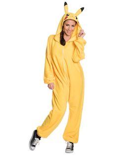 Check out Men's Pikachu Jumpsuit - Unisex Costume - Wholesale Board & Video… Costumes Pokemon, Pikachu Halloween Costume, Anime Costumes, Halloween Costumes For Girls, Adult Costumes, Costumes For Women, Adult Halloween, Halloween Ideas, Buy Costumes