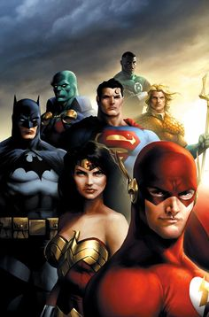 As Marvel enjoys 'Avengers' success, we suggest five things that Warner Bros. could do to effectively build a shared DC superhero movie universe - including the 'Justice League' movie. Heros Comics, Dc Comics Characters, Comic Book Heroes, Comic Books Art, Justice League, Batman Christian Bale, Super Heroine, Hq Dc, Univers Dc