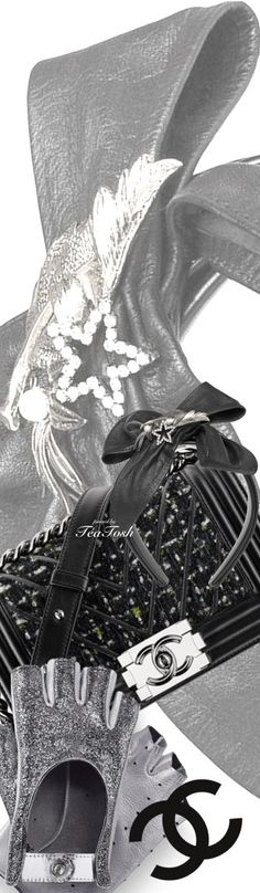 ❇Téa Tosh❇ Chanel Boy Bag & Gloves, Kitte Headband
