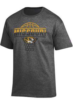 Mizzou Tigers Mens Grey Basketball Tee