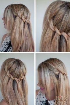 Beautiful Waterfall Twist - Summer Hairstyle Ideas - Cute Braid for Girls