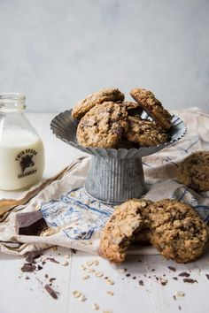Dark Chocolate Chunk Oatmeal Coconut Cookies-2