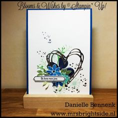 Blooms & Wishes card for blog highlight by Danielle Bennenk, independent Stampin' Up! Demonstrator the Netherlands