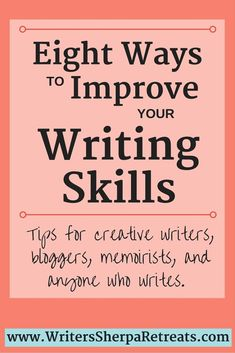 Eight Tips on How to Improve Your Writing Skills -- No matter what kind of writer you are these strategies can help you improve everything you write. Writing tips writing inspiration creative writing be a better writer become a writer Creative Writing Tips, Book Writing Tips, Writing Words, Cool Writing, Writing Resources, Fiction Writing, Writing Quotes, Writing Help, Creative Writing Exercises