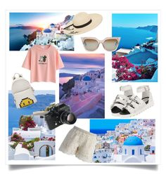 """""""summer trip in greece"""" by littlebritish ❤ liked on Polyvore featuring Chicwish, WithChic, Betsey Johnson, Fendi, Anya Hindmarch and Nikon"""