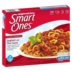 Weight Watchers Smart Ones Classic Favorites Angel Hair Marinara, 10 oz 200 Cals With tender angel hair pasta Delicious marinara sauce Yellow and green zucchini of protein Spaghetti Meat Sauce, Spaghetti Dinner, Microwave Dinners, Microwave Recipes, Weight Watchers Smart Ones, Weight Watchers Meals, Salisbury Steak, Macaroni Cheese, Frozen Meals
