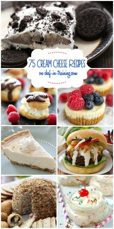 75+ Cream Cheese Recipes at chef-in-training.com …So many yummy cream cheese recipes in one place! Love this list!