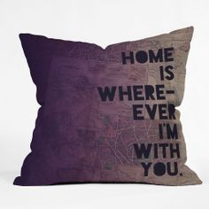 With You by Leah Flores pillow
