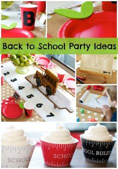 These creative Back To School Party Ideas would also be perfect for a child's graduation party at the end of the year. Plenty of ideas to choose from! Back To School Party, Back To School Teacher, 1st Day Of School, School Parties, School Fun, School Days, School Craft, School Events, Sunday School