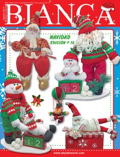 Aleyda Osorio / Publicaciones y Revistas Christmas Snowman, Christmas Crafts, Christmas Ornaments, Book Crafts, Craft Books, Cross Stitch Books, Ideas Para, Nativity, Holiday Decor