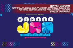 Winter Jam 2015-Jan 11, 2015--Founded and hosted by GRAMMY®-nominated NewSong, the tour will also feature Jeremy Camp, Francesca Battistelli, Building 429, for King & Country, Family Force 5 and evangelist Tony Nolan, while the LifeWay Christian Stores Pre-Jam Party is slated to showcase Blanca, About A Mile and VERIDIA.