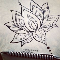 Image result for simple lotus drawing