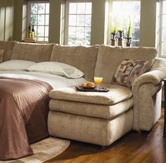 Devon Devon 5 Piece Sectional with Chaise and Sleep Sofa by La-Z-Boy - Johnny Janosik - Reclining Sectional Sofa Delaware, Maryland, Virginia, Delmarva