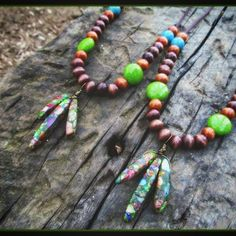 Some new super colorful gemstone composite arrow necklaces! with wooden beading and colorful stone beads Available in my etsy shop. Link in my bio  #love #crystal #crystals #gems #gemstones #turquoise #howlite #layered #naturelovers #natural #healingcrystals #boho #bohemian #grunge #beauty #beautiful #outdoors #style #fashion #fashionista #giftideas #nature #arrow #happy #gypsy #goodvibes #girl #necklaces #necklace #hipster