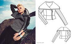 moto jacket ::: Burdastyle Magazine 11/2013