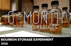 What happens to bourbon when stored in different real world conditions and fill levels over time? Our 6 Month Tasting Results. Best Rye Whiskey, Bb Shop, Amber Bottles, Chemist, Bourbon, Conditioner, Storage, Bourbon Whiskey, Purse Storage