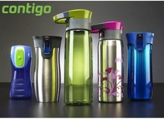 contigo water bottle 3 pack - BEST water bottles ever. I won't buy any other brand. AND they make little ones for smaller children too! Best Water Bottle, Water Bottles, Cool Mugs, Cold Drinks, Health Tips, Giveaway, Good Things, My Favorite Things, Travel Mugs