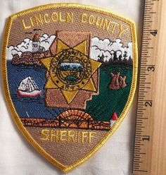Lincoln County Oregon Sheriff Patch (Fire, Highway Patrol, State Police) • $19.99 - PicClick