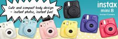 Five lucky winners will each receive a Fujifilm Instax Mini 8 Instant Camera plus Film. Enter to win!