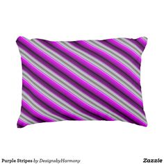 Purple Stripes Accent Pillow