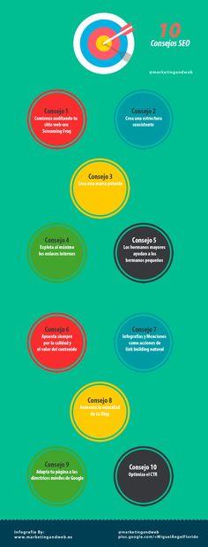 10 consejos SEO #infografia #infographic #seo