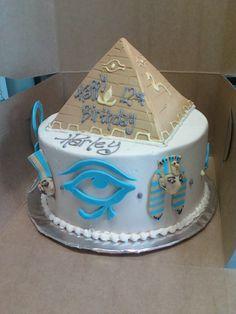 Egyptian themed Birthday cake