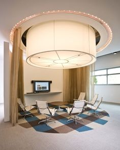 Creative, nested spaces make for great impromptu meetings in place of more traditional conference rooms at the Interface Atlanta #showroom.