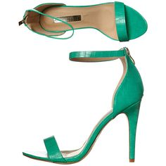 Billini Emilia Heel (375 GTQ) ❤ liked on Polyvore featuring shoes, pumps, footwear, green, heels, womens footwear, ankle strap pumps, green high heel pumps, stilettos shoes and high heel pumps