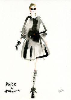 """Ms. Socialite!"" Love the sketch @Neiman Marcus Tumblr"