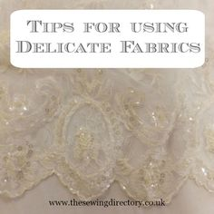 Sewing tips for using delicate fabrics from Remnant Kings