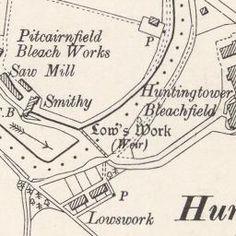 Huntingtower Ordnance Survey Six-inch 1900
