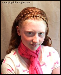 Girly Do Hairstyles: By Jenn: Wide Braided Headband