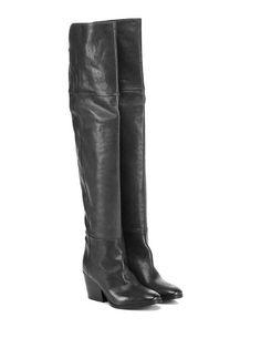 Fiori Francesi - Stivali - Donna - Stivale in pelle con inserti elasticizzati e…