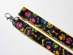 Dog Paws and Bones Dog Leash by MommaBCrafts on Etsy, $16.00