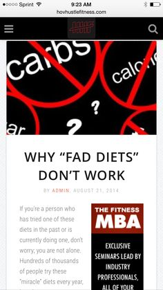 Why Fad Diets Don't Work - Crash Dieting Is a Bad Idea -  ➡️http://www.hovhustlefitness.com/fitness/why-fad-diets-dont-work/⬅️ #health #fitness #weightloss #nutrition #diet #wellness