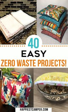 40 Beginner Zero Waste Projects for the Home that anyone can do. Zero Waste Toilet Cleaner, UnPaper Towels, Repurposed Plastic Bag Basket, DIY Dryer Balls, Upcycling Tote, Reuseable Produce Bags, DIY Soap, Bottle Cap repurposing and more! 40 Easy Zero Waste Projects#zerowaste #zerowasteDIY #ZerowasteKitchen #Zerowasteliving #ZeroWastehacks Sewing Projects, Diy Projects, Plastic Playhouse, Produce Bags, Sewing For Kids, Sewing Diy, Zero Waste, Reduce Waste, Dryer Balls