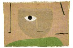 Paul Klee's move from drawing to painting explored at Zentrum Paul Klee. Paul Klee, The Eye, 1938. Pastel on burlap