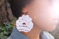Lace earrings.