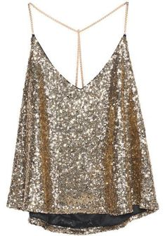 3a511f39 Gold Criss Cross Sequined Cami Top. Sequin Cami TopGold Crop TopGold Sequin  TopSequin Tank ...