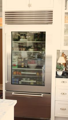 Love The Fridge. Custom Distributors Carries SubZero Appliances Including  This Glass Front Refrigerator.