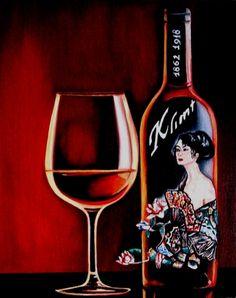 Klimt Wine Label by k Madison Moore