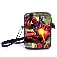 0026f9792fb4 Comics Spiderman Messenger Bag Spider Man Boys Girls Shoulder Bag Children  School bags Women Handbags Deadpool Mini Cross Bags