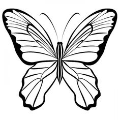 Бабочки. Шаблоны. Трафареты. Butterfly Black And White, Color Pictures, Butterflies, Clip Art, Template, Chocolate, Handmade, Arabesque, Fabric Painting