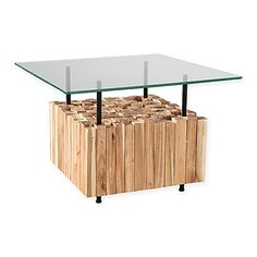 The INK+IVY Benson Bundle Coffee Table is created from blocks of plantation grown acacia featuring natural variations of the wood.  Complete with 1/2 tempered glass; the table is the perfect update for a unique and natural accent to your any room.