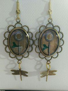Cast #resin #steampunk #clockwork #gears #jewelry #earrings I made.