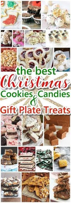 The BEST Christmas Cookies, Fudge, Candy, Barks and Brittles Recipes - Favorites for Holiday Treats Gift Plates and Goodies Bags! - Dreaming in DIY #christmascookies #christmascandy #christmasdesserts