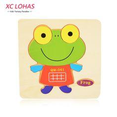 16 Colori Sveglio di Legno Di Puzzle Del Fumetto Puzzle Di Legno Per Bambini Giocattoli Bambini Economici Giocattoli Educativi Di Puzzle Giochi Divertenti per I Bambini