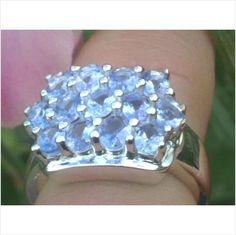 Nice Ring With 2.21ctw Genuine Tanzanites