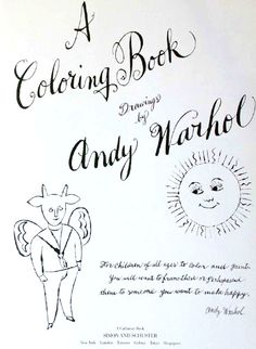 Warhol Coloring Book babe Pinterest Warhol Coloring and