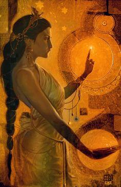 Witchcraft by ~Felideus Digital Art / Paintings & Airbrushing / Fantasy Fantasy Kunst, Fantasy Art, Magick, Witchcraft, Wicca, Bild Gold, Sacred Feminine, Inspiration Art, Gods And Goddesses